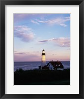 Framed Portland Head Lighthouse Vertical Cape Elizabeth Maine USA