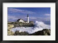 Framed Portland Head Lighthouse Cape Elizabeth Maine  USA