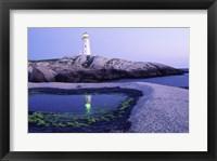 Framed Peggy's Cove Lighthouse, Peggy's Cove, Nova Scotia, Canada