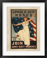 Framed Uphold Our Honor