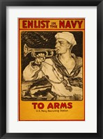Framed Enlist in the Navy