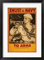 Framed Enlist in the Navy