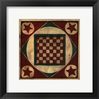 Framed Small Antique Checkers