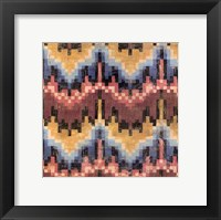 Flame Stitch II Framed Print