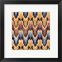 Flame Stitch III Framed Print