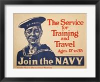 Framed Join the Navy