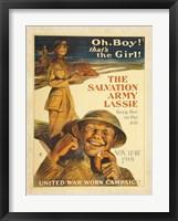 Framed Salvation Army Lassie