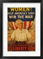 Framed 2nd Liberty Loan 1917