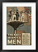 Framed Navy Wants Men