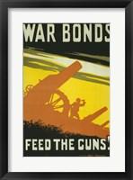 Framed War Bonds Feed the Guns