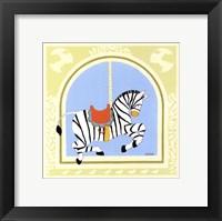 Zebra Carousel Framed Print