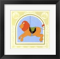 Lion Carousel Framed Print