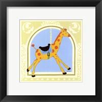 Giraffe Carousel Framed Print
