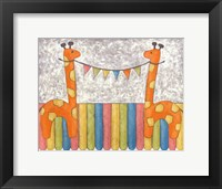 Carnival Giraffes Framed Print