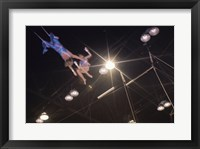 Framed Flying Redpaths Royal Hanneford Circus swinging