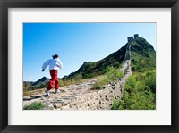 Framed Person running up the Great Wall, Simatai, Beijing, China