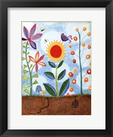 Framed Whimsical Flower Garden II