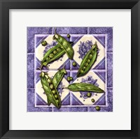 Framed Peas Tile