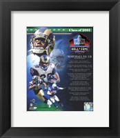 Framed Marshall Faulk 2011 Hall of Fame Composite