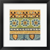 Eastern Textile I Framed Print