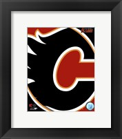 Framed Calgary Flames 2011 Team Logo