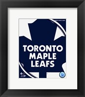 Framed Toronto Maple Leafs 2011 Team Logo