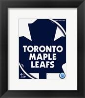 Framed Toronto Maple Leafs 2011 Team Logo