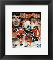 Framed Bobby Clarke 2011 Portrait Plus