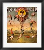 Framed Descente d'Absalon par Miss Stena, Circus Poster, 1890