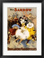 Framed Sandow Trocadero Vaudevilles, Performing Arts Poster, 1894