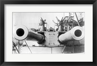 Framed HMS Dreadnought Guns LOCBain