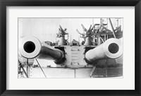 Framed HMS Dreadnought Guns LOCBain