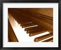 Framed Klavier Tastatur