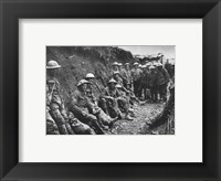 Framed Royal Irish Rifles Ration Party Somme July 1916