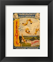 Framed Trapeze Artists, Barnum & Bailey, 1896
