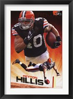 Framed Browns - P Hillis 11