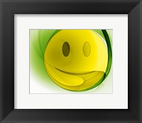 Framed Happy Face Orb