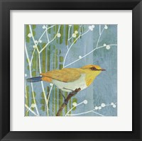 Blue Sky Songbird I Framed Print