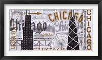 Framed Hey Chicago Vintage