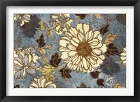 Framed Sophias Flowers Blue