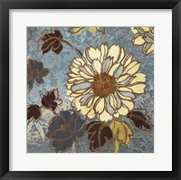 Sophias Flowers II - Blue Framed Print