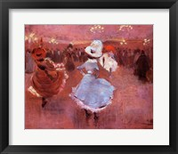 Framed Jean-Louis Forain Can-Can Dancers
