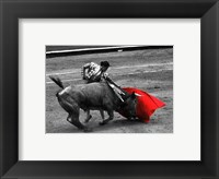 Framed Red Matador III