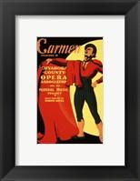 Framed Carmen Matador Playbill 1939