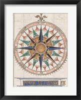 Framed Guillaume Brouscon Compass France, 1543