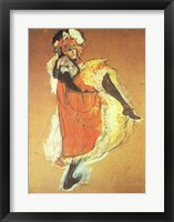 Framed Henri de Toulouse-Lautrec Can-Can Jane Avril