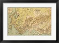 Framed Mapa da Cidade do Rio de Janeiro - 1929