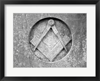 Framed Masons Compass