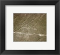 Nazca Lines Dog Framed Print