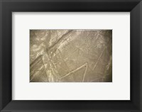 Nazca Lines Symbol Framed Print